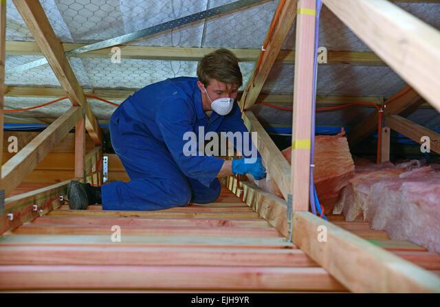 Fibreglass Insulation Stock Photos & Fibreglass Insulation Stock ... : fibreglass quilt insulation - Adamdwight.com