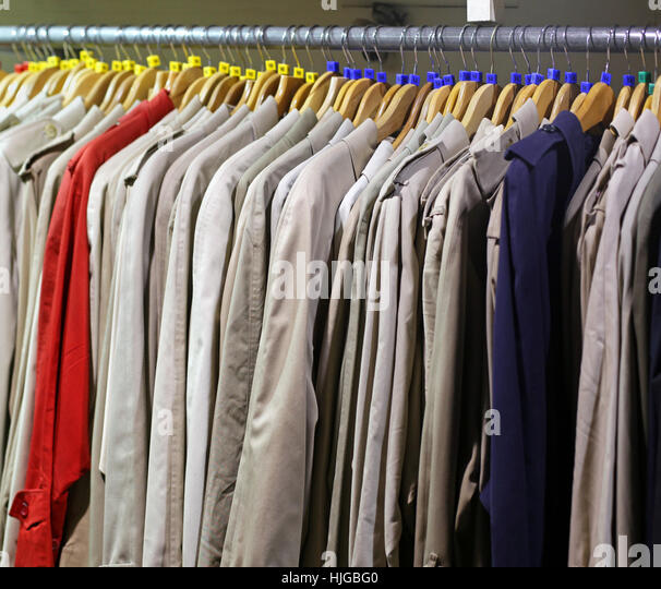 Raincoat Hanging Stock Photos  Raincoat Hanging Stock Images  Alamy
