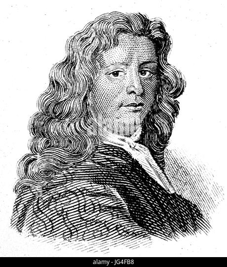 LEONARD PLUKENET (1641-1706) English botanist - Stock Image