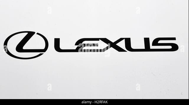 lexus logo. a lexus logo seen at the paris