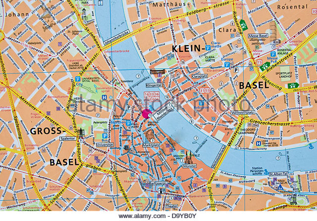 Map Of Switzerland Photos and Map Of Switzerland Images – Basel Tourist Map