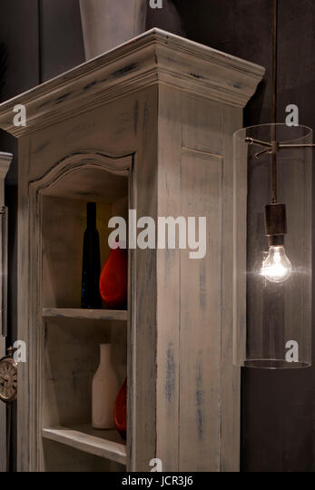 retro look furniture. Display Wooden Cabinet Aged And Distressed To Resemble A Vintage Retro Look. - Stock Image Look Furniture