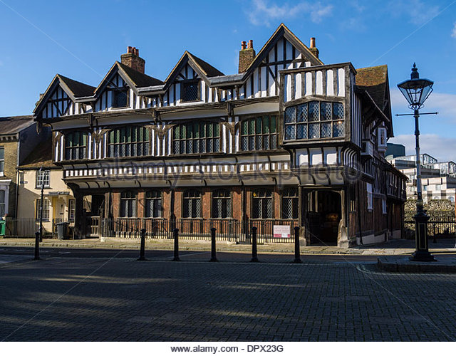 Tudor house museum southampton hampshire england stock image