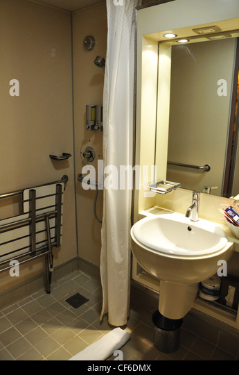 Cruise ship bathroom for handicapped   Stock Image. Ships Bathroom Stock Photos  amp  Ships Bathroom Stock Images   Alamy