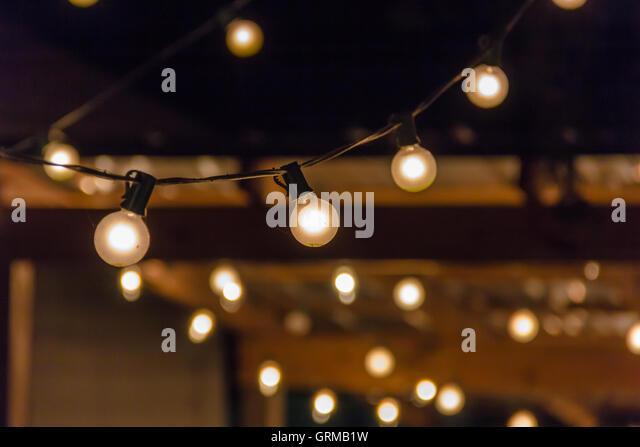 String Lights At Night : String Of Lights Night Stock Photos & String Of Lights Night Stock Images - Alamy