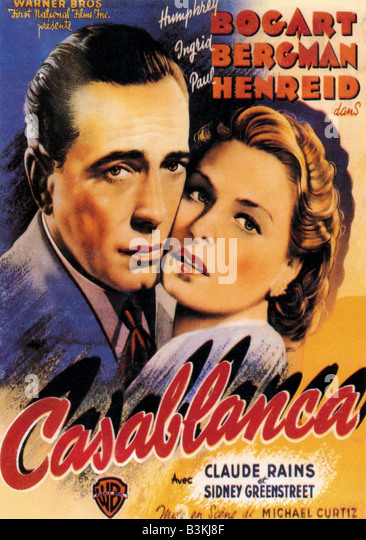Casablanca movie poster stock photos casablanca movie poster stock images alamy for Poster casablanca