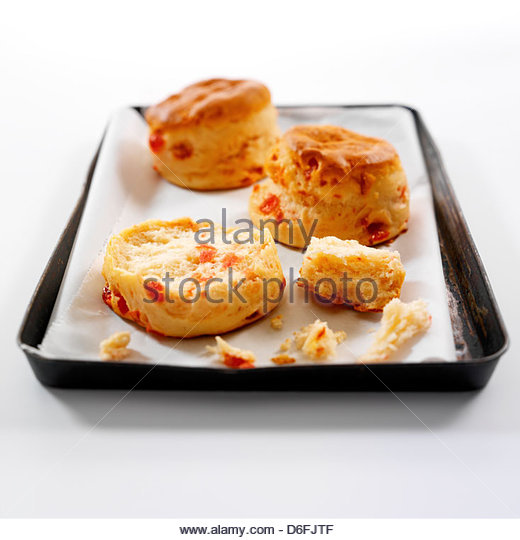 Cherry Scones - Stock Image