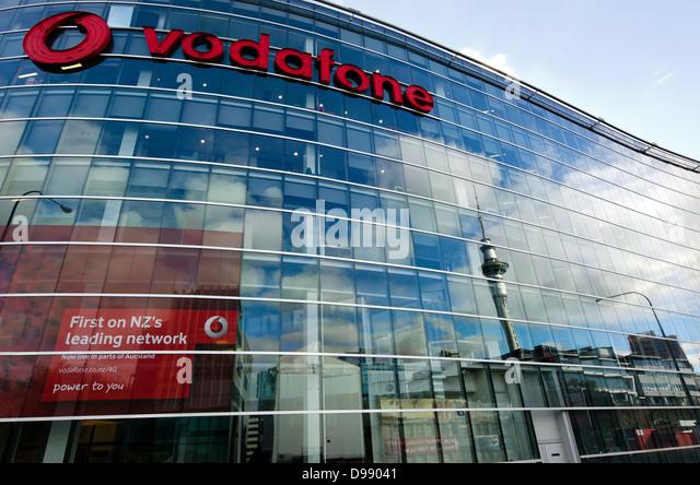 Vodafone Headquarters In Auckland CBD City, New Zealand   Stock Image
