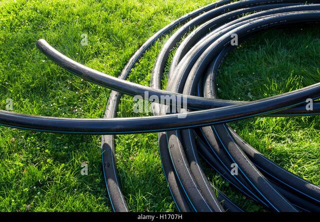 High density polyethylene stock photos high density for Water line pipe material
