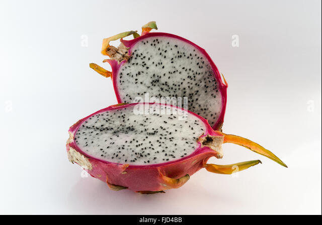 how to cut a dragon fruit and eat it