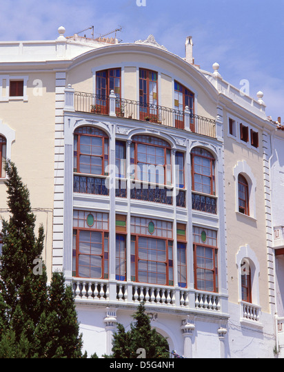Modernist beach house stock photos modernist beach house - Casa menorca barcelona ...