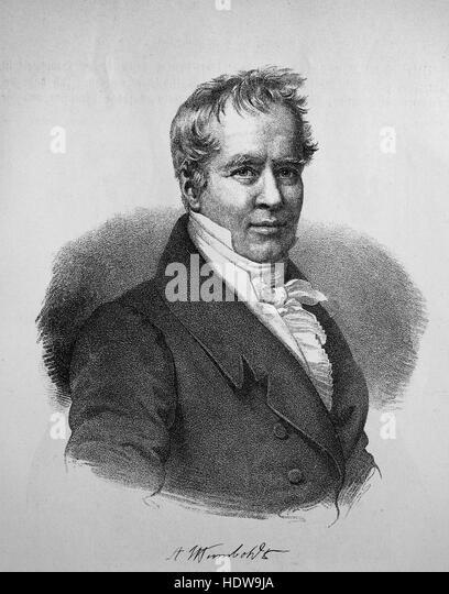 Alexander von humboldt 1769 1859 stock photos alexander for Alexander heinrich