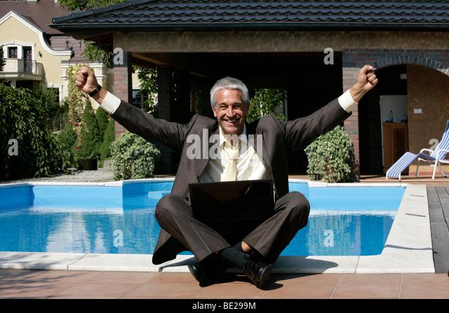 Pool business man stock photos pool business man stock for Pool man show