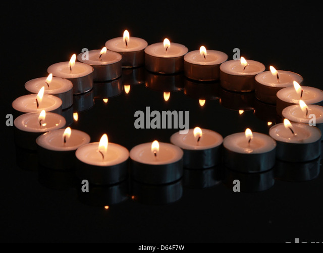 Lit Candles In Heart Shape Stock Photos & Lit Candles In Heart ...