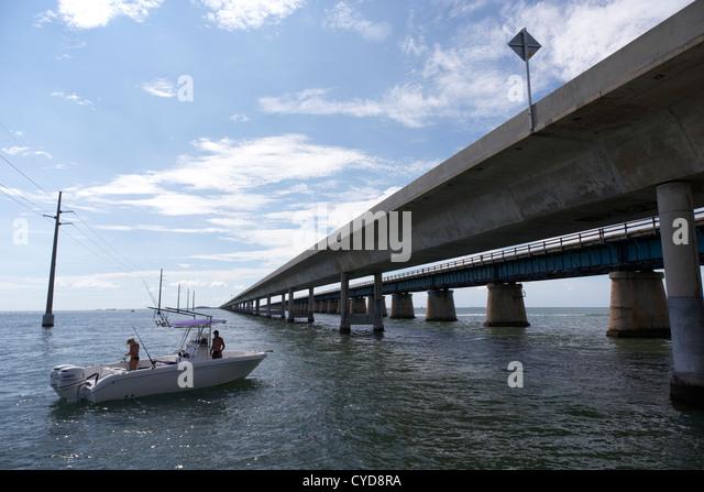 Florida keys fishing and boat stock photos florida keys for Florida keys bridge fishing