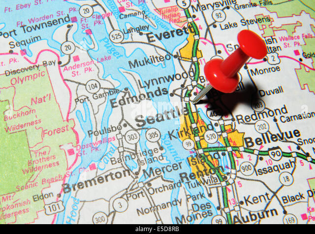 Seattle Airport Usa Stock Photos Seattle Airport Usa Stock - Us map seattle
