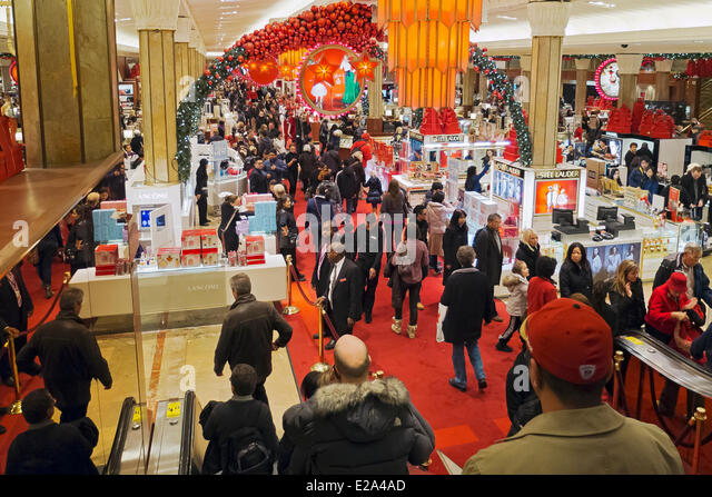 united states new york manhattan macys department store christmas decorations stock image