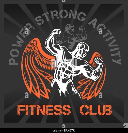gym vector logo bodybuilder bodybuilding stock photos
