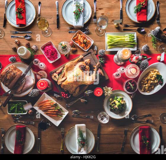 christmas ham dinner table - photo #36