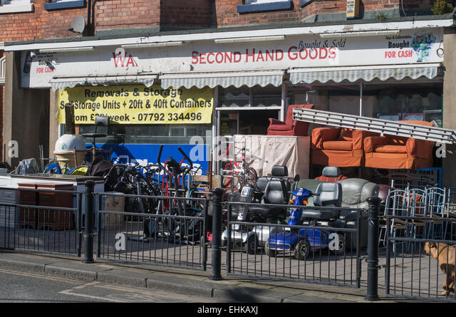 second hand shop on castle road scarborough north yorkshire uk