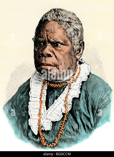 Lalla Rookh, the last Tasmanian aborigine, who died in 1876 - Stock ...