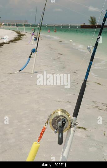 Gasparilla island state park stock photos gasparilla for Shark fishing rod