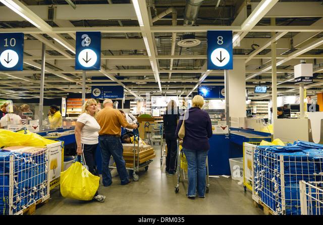 Checkout line queue stock photos checkout line queue for Ikea ft lauderdale