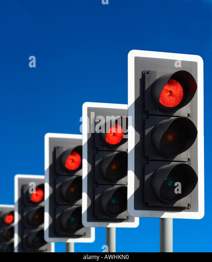 Light Sequence Controller: Traffic Lights Sequence Stock Photos & Traffic Lights