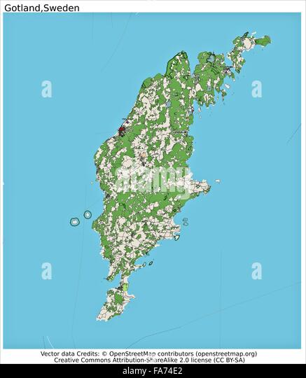 Sweden Country Map Stock Photos Sweden Country Map Stock Images - Sweden map gotland