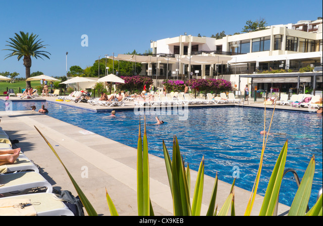 Portugal Algarve Club Med La Balaia Swimming Pool Surrounded Stock Photo Picture And