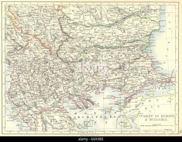 Balkans Turkey In Europe Map Stock Photos  Balkans Turkey In