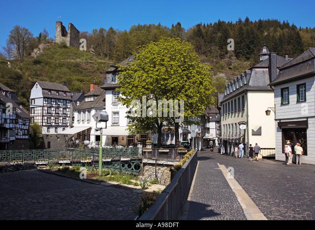 Centre monschau germany stock photos centre monschau for Eifel germany hotels