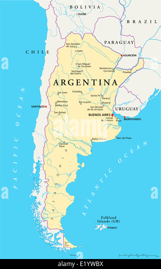 Map Of Argentina Stock Photos Map Of Argentina Stock Images Alamy