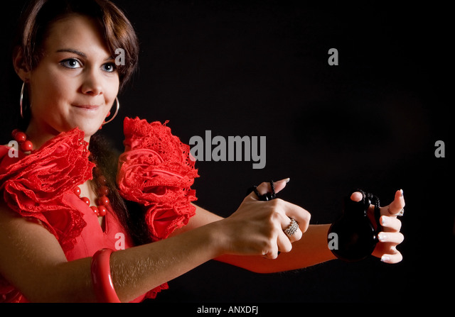spanish girl dancing castanets stock photos amp spanish girl