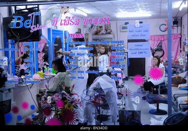 Astonishing Thai Hair Salon Stock Photos Thai Hair Salon Stock Images Alamy Hairstyles For Women Draintrainus
