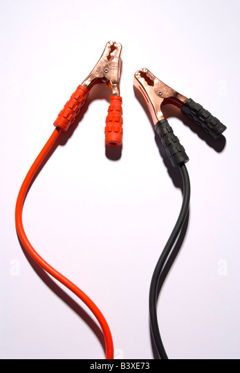 Jumper Cables Positive And Negative : Jumper cable stock photos images alamy