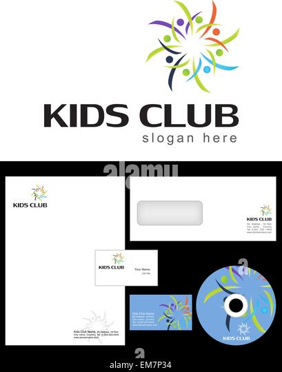 kids club logo stock photos kids club logo stock images alamy. Black Bedroom Furniture Sets. Home Design Ideas