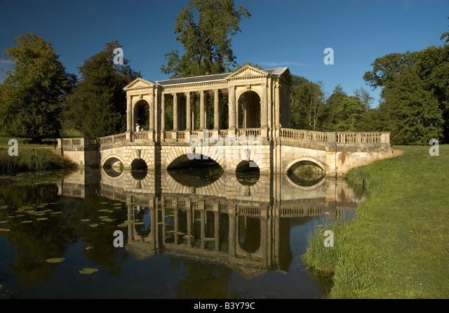 Superb The Palladian Bridge At Stowe Landscape Gardens, Buckinghamshire.  Landscape.   Stock Image Great Pictures