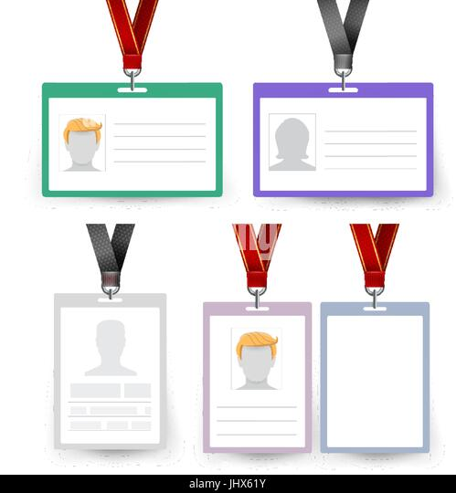 Blank Id Card Tag Ribbon Stock Photos & Blank Id Card Tag Ribbon
