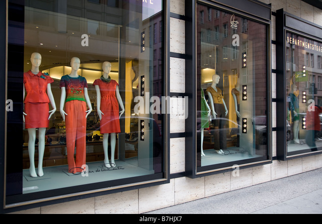 department store window display stock photos department store window display stock images alamy. Black Bedroom Furniture Sets. Home Design Ideas