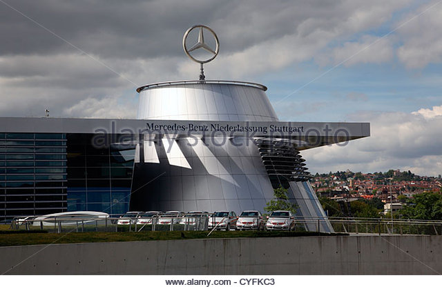 Headquarters mercedes benz stuttgart stock photos for Mercedes benz corporate office