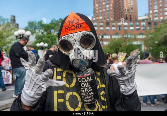 New York, NY 1 May 2017 - May Day protester dressed as the Grim Reaper at a May Day rally for InternationalWorkers - Stock Image