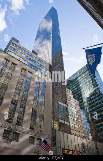 New York City , The Big Apple , skyline modern architecture on 5th Avenue , The Trump Tower & Tiffany & - Stock Image