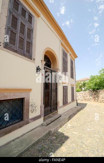 Greek Style House old greek style house near stock photos & old greek style house
