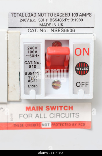 fuse box domestic stock photos fuse box domestic stock images close up of a domestic electrical fuse box on off switch picture by jamie mann