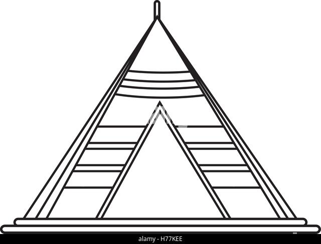 tent clipart black and white. isolated tent for camping design stock image clipart black and white