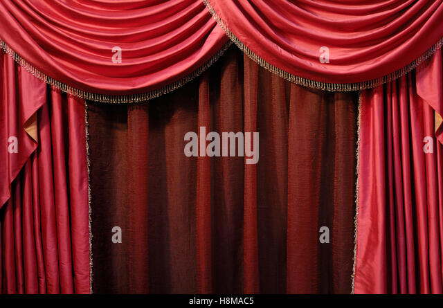 Red Curtain, Background   Stock Image