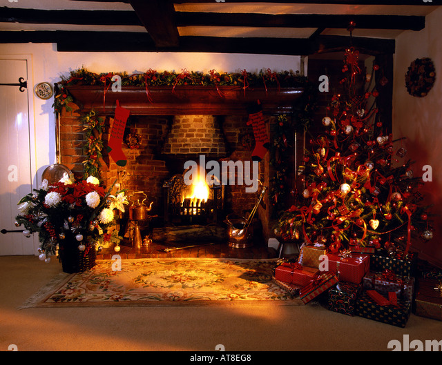 Find the perfect inglenook fireplace christmas stock photo. Huge collection