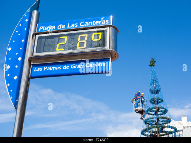 Celcius thermometer stock photos celcius thermometer - Gran canaria weather november ...