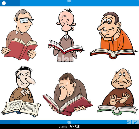 Cartoon Characters Reader : Readers stock photos images alamy